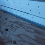 ガラス繊維シートを施工